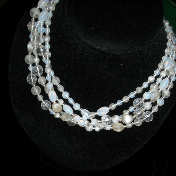 Antique Jewelry - dress antique jewelry necklace west Germany beaded